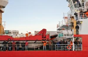 RRS Ernest Shackleton departing Rothera