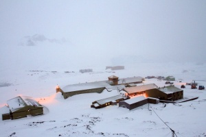 Rothera base on a dreary day