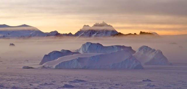 Sea ice and mist